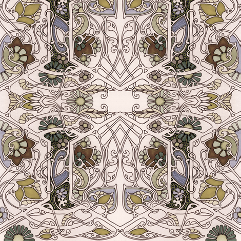 A Most Edwardian Autumn fabric by edsel2084 on Spoonflower - custom fabric