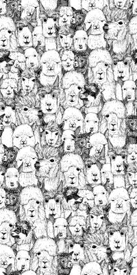 just alpacas black white small