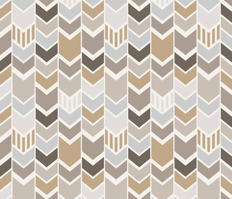 Gray Tan Chevron fabric by mrshervi on Spoonflower - custom fabric