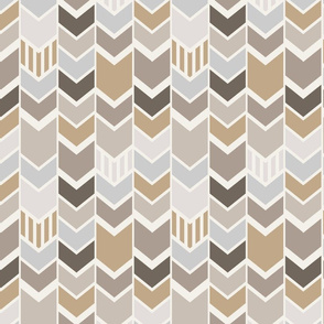 Gray Tan Chevron