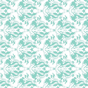 Mermaid damask - Neptune - rotated