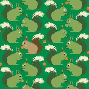 Squirrels (on emerald)