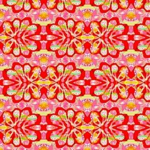 pink rose batik flower