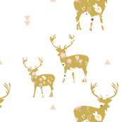 Golden floral deer large