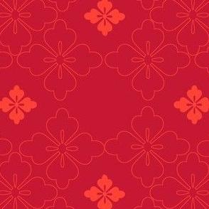 Begonia on Pomegranate