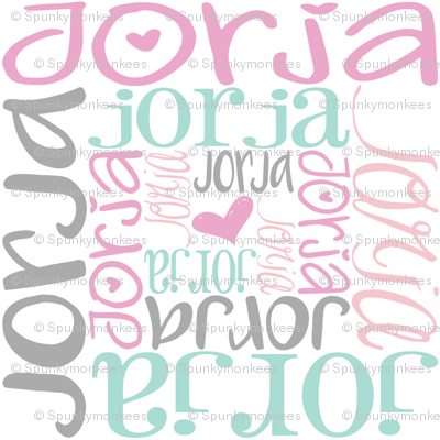 personalised name design - spiral mixed fonts