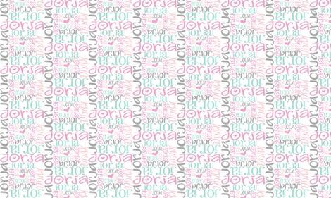 personalised name design - spiral mixed fonts fabric by spunkymonkees on Spoonflower - custom fabric