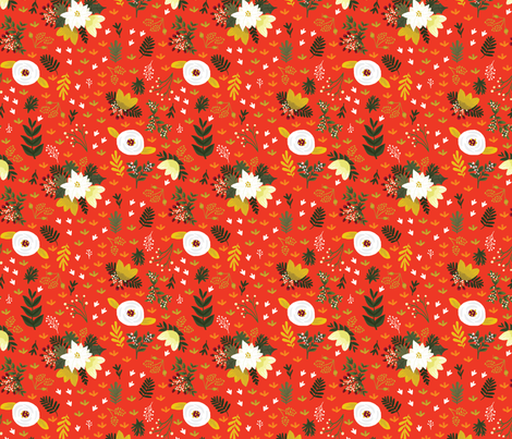 Merry Fields - Rouge fabric by ginamayes on Spoonflower - custom fabric
