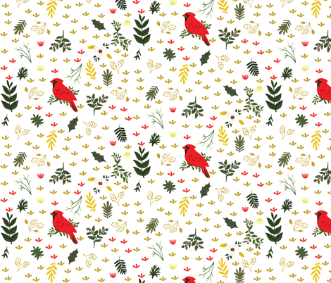 Cardinals fabric by ginamayes on Spoonflower - custom fabric