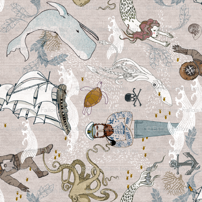 Cephalopods + Old Sea Dogs (small) RAILROAD