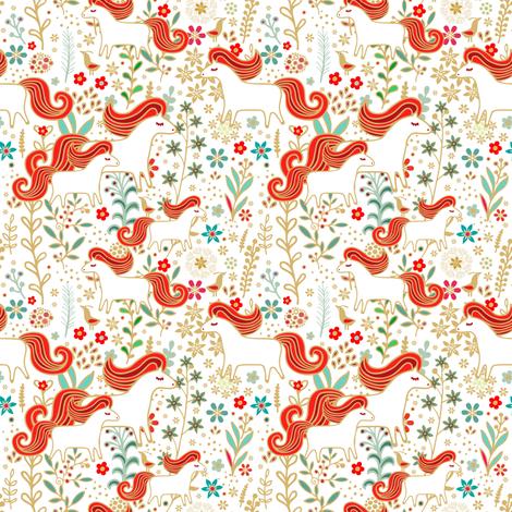 Horses fabric by dariara on Spoonflower - custom fabric