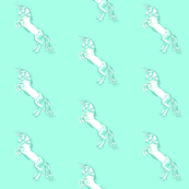 Rearing Unicorn in Aqua Mint