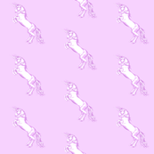 Rearing Unicorn in Lilac