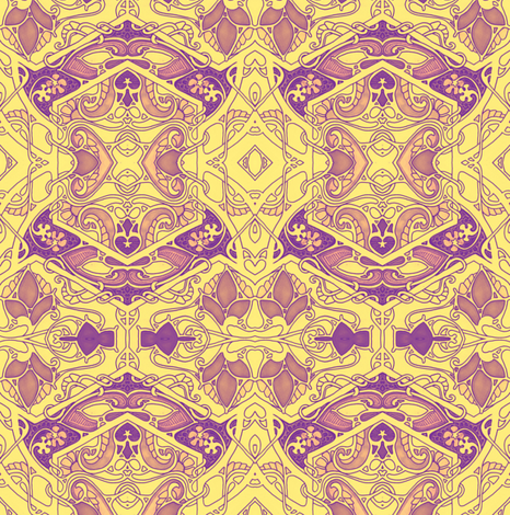 Ring Around the Psychedelic Rose Buds fabric by edsel2084 on Spoonflower - custom fabric