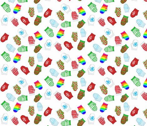 Mitten Matching  fabric by luvinewe on Spoonflower - custom fabric