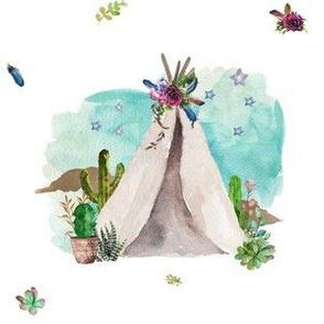 She Will Move Mountains Teepee Only 6""