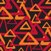 Volcanic Geometric - red