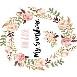 "42""x36"" / Hello, My Sunshine Floral Blanket"
