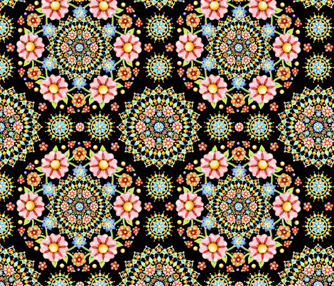 Flower Crown Fiesta fabric by patriciasheadesigns on Spoonflower - custom fabric