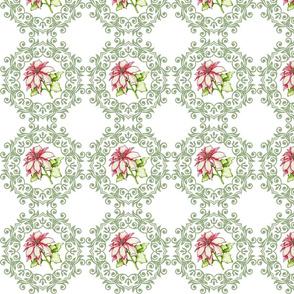 Poinsettia and Wreath
