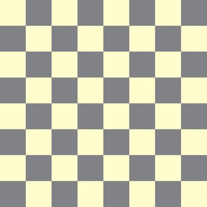 Retro pale yellow gray check_Miss Chiff Designs