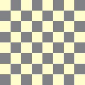 Retro pale yellow gray check_Miss Chiff Designs