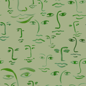 mossy faces: green/sage