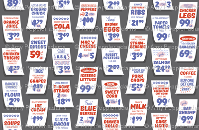 Weekly Specials* (Red on Pepper Pot) || grocery market supermarket store sale sign poster typography lettering food fruit price numbers