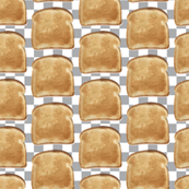 Retro Toast on Gray white check_Miss Chiff Designs