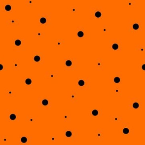 Halloween Orange with Black Dots