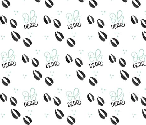 Oh dear - Mint Deer tracks - Big patterns fabric by howjoyful on Spoonflower - custom fabric