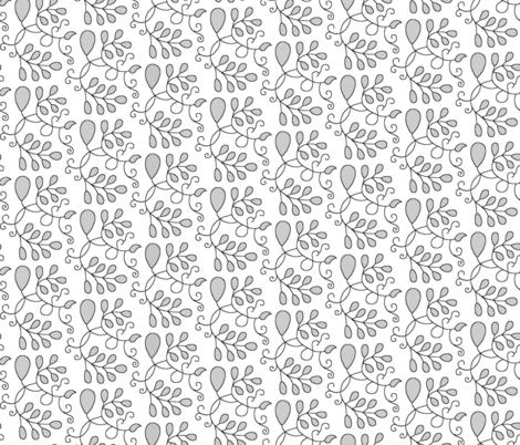 Detailed Elizabethan Blackwork Barberry fabric by sidney_eileen on Spoonflower - custom fabric