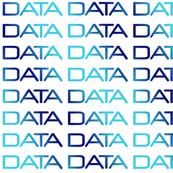 DATA, bright-dark-bright blue gradient text on white, by Su_G