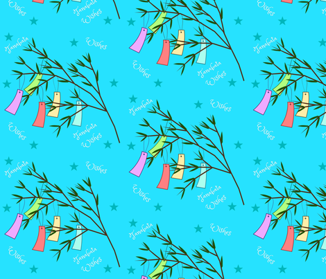 Tanabata Wishes fabric by floramoon on Spoonflower - custom fabric