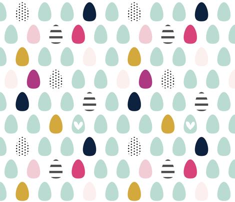 Egg Love - Josie fabric by sweeterthanhoney on Spoonflower - custom fabric