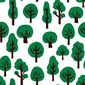 christmas trees // green fir tree forest christmas trees andrea lauren fabric