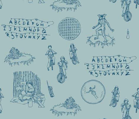 ST Toile 2 - Blue fabric by julieprescesky on Spoonflower - custom fabric