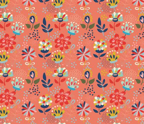 Wild Flowers fabric by olivia_gibbs on Spoonflower - custom fabric