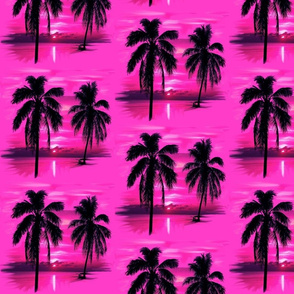 Modern Tropical Palm Trees ~ Reflection on Pink!