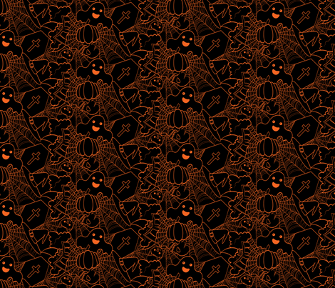Cute Halloween - Black and Orange fabric by juliematthews on Spoonflower - custom fabric