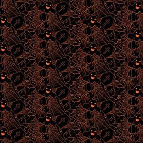 Cute Halloween - Black and Orange