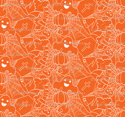 Cute Halloween - Orange and White