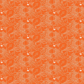 Cute Halloween - Orange and White