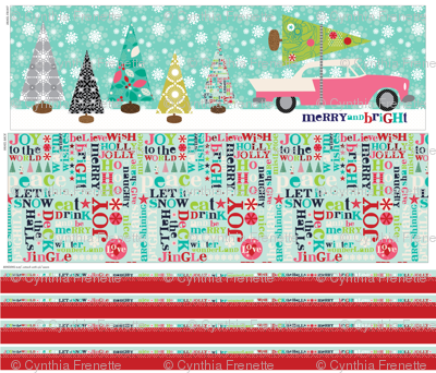 Merry and Bright Table Runner Panel