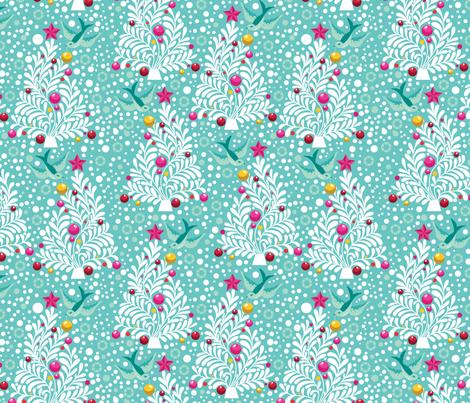 Enchanted Holiday O Christmas Tree fabric by cynthiafrenette on Spoonflower - custom fabric