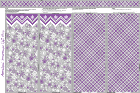 Amethyst Snowscape Gift Bag fabric by jjtrends on Spoonflower - custom fabric