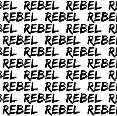 rebel || monochrome fabric by littlearrowdesign on Spoonflower - custom fabric