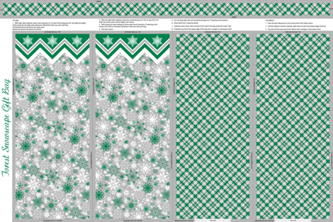 Forest Snowscape Gift Bag fabric by jjtrends on Spoonflower - custom fabric