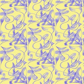 Butterfly Dance on Buttery Yellow - Medium Scale