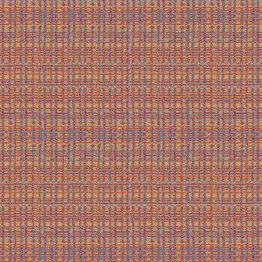 Boro Weave - terra-cotta horizontal stripe